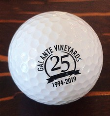 Galante Vineyards 25th Anniversary Golf Ball